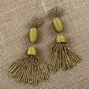 BaubleBar Gold Tassel Earrings EUC